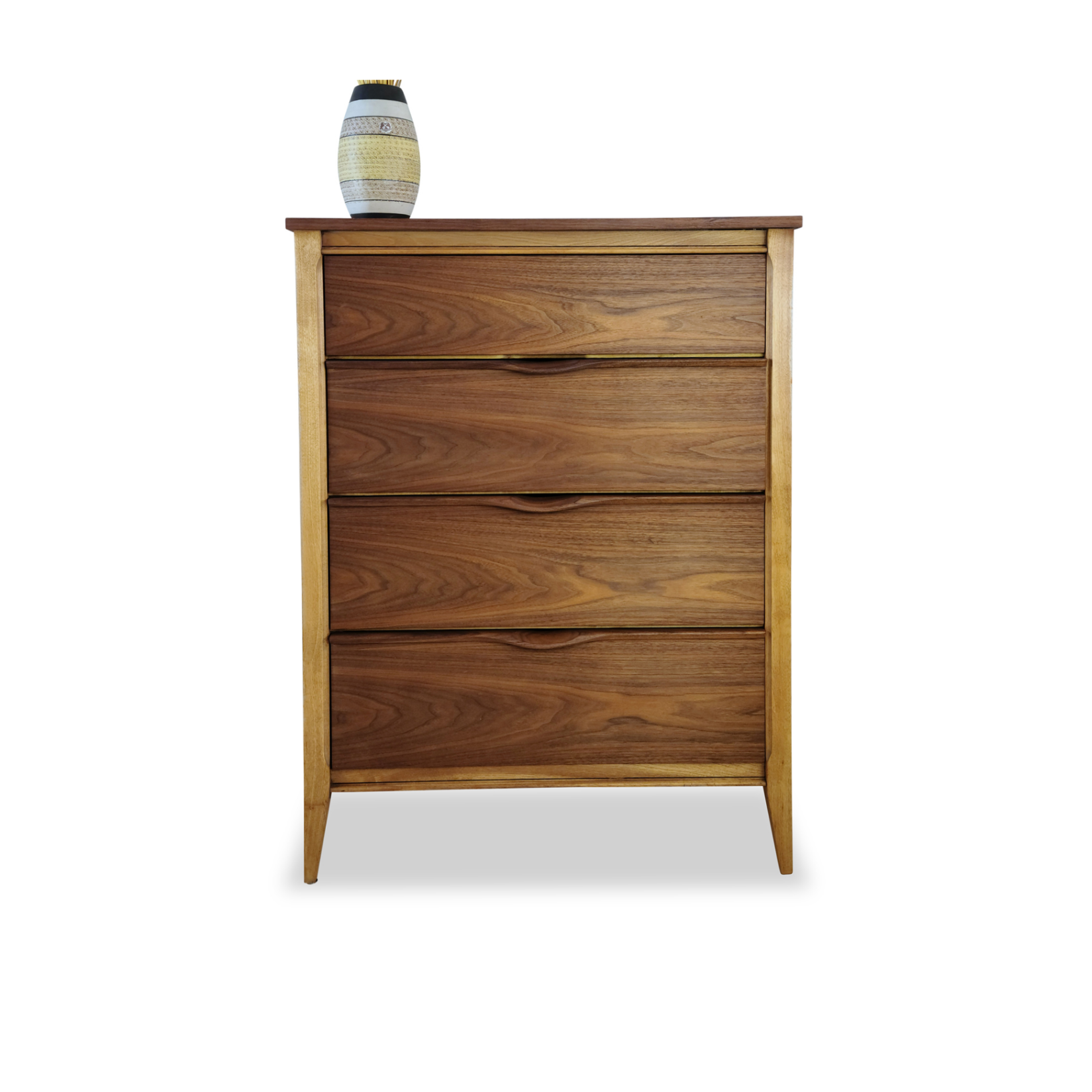Walnut Highboy by Kaufman Furniture