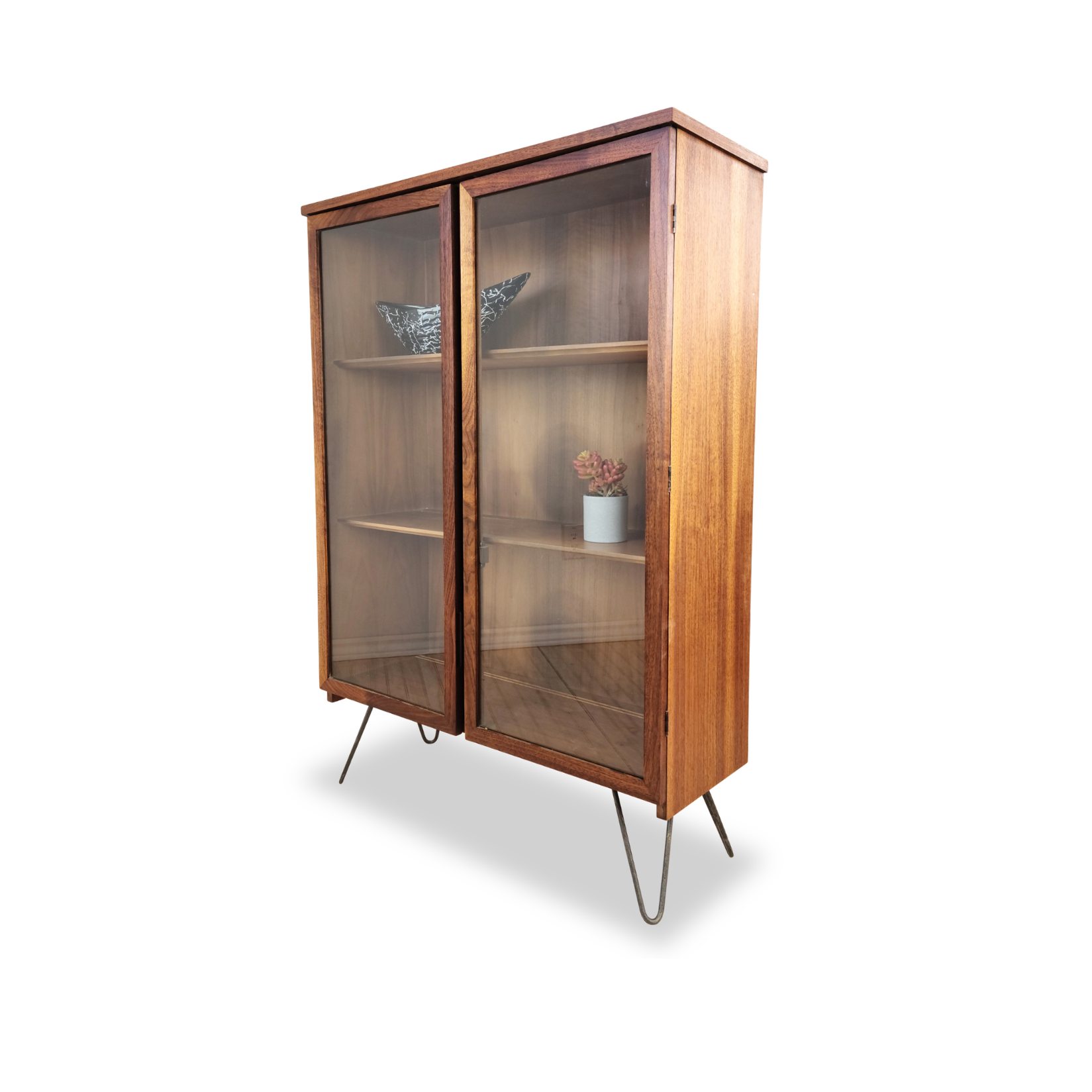Walnut Bookcase by Kaufman