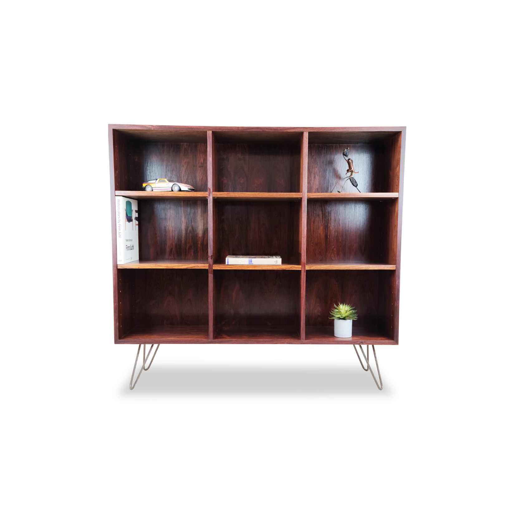 Rosewood Bookcase with Modular Shelving