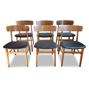 Teak and Beech Farstrup Dining Chairs