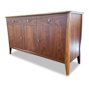 Vintage Walnut Sideboard with Record Storage