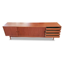 Load image into Gallery viewer, Long Mid Century Teak Sideboard