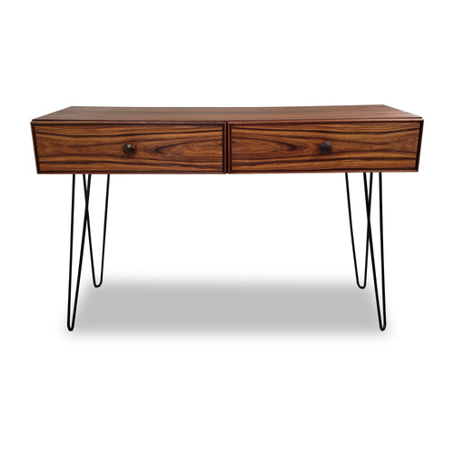 Vintage Rosewood Console on Hairpin Legs