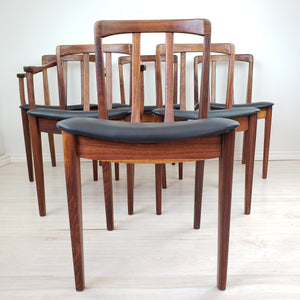 Vintage Walnut Dining Chairs by Honderich Furniture Co.