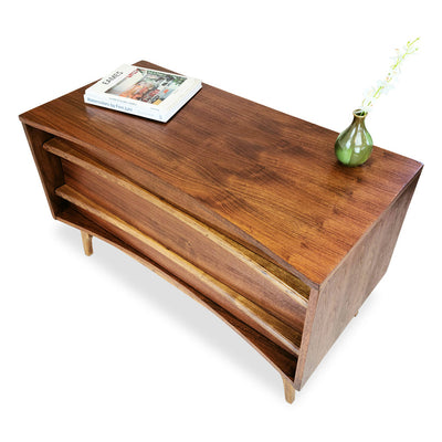 Walnut Two Drawer Dresser