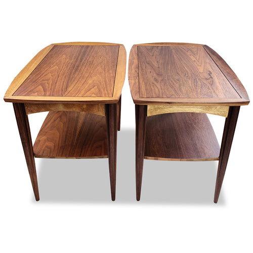 Walnut Accent Tables by Deilcraft
