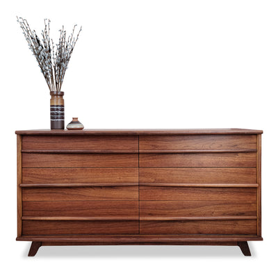 Walnut six drawer dresser by Gibbard Furniture