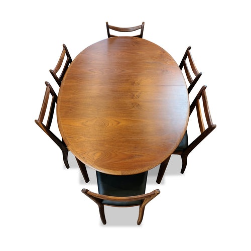 Teak Extendable Oval Table