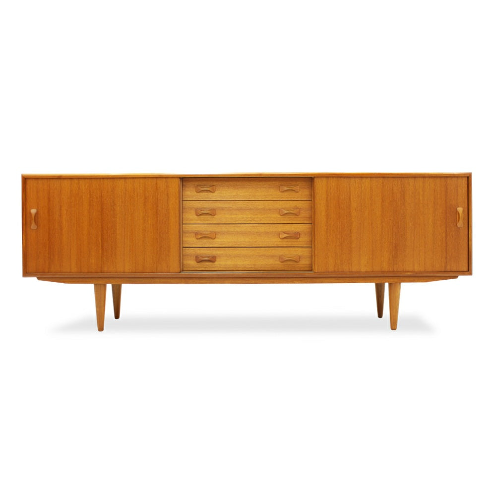 Mid Century Modern Teak Sideboard by Clausen and Sons