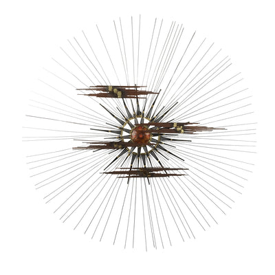 Brutalist Sunburst Wall Sculpture Curtis Jere