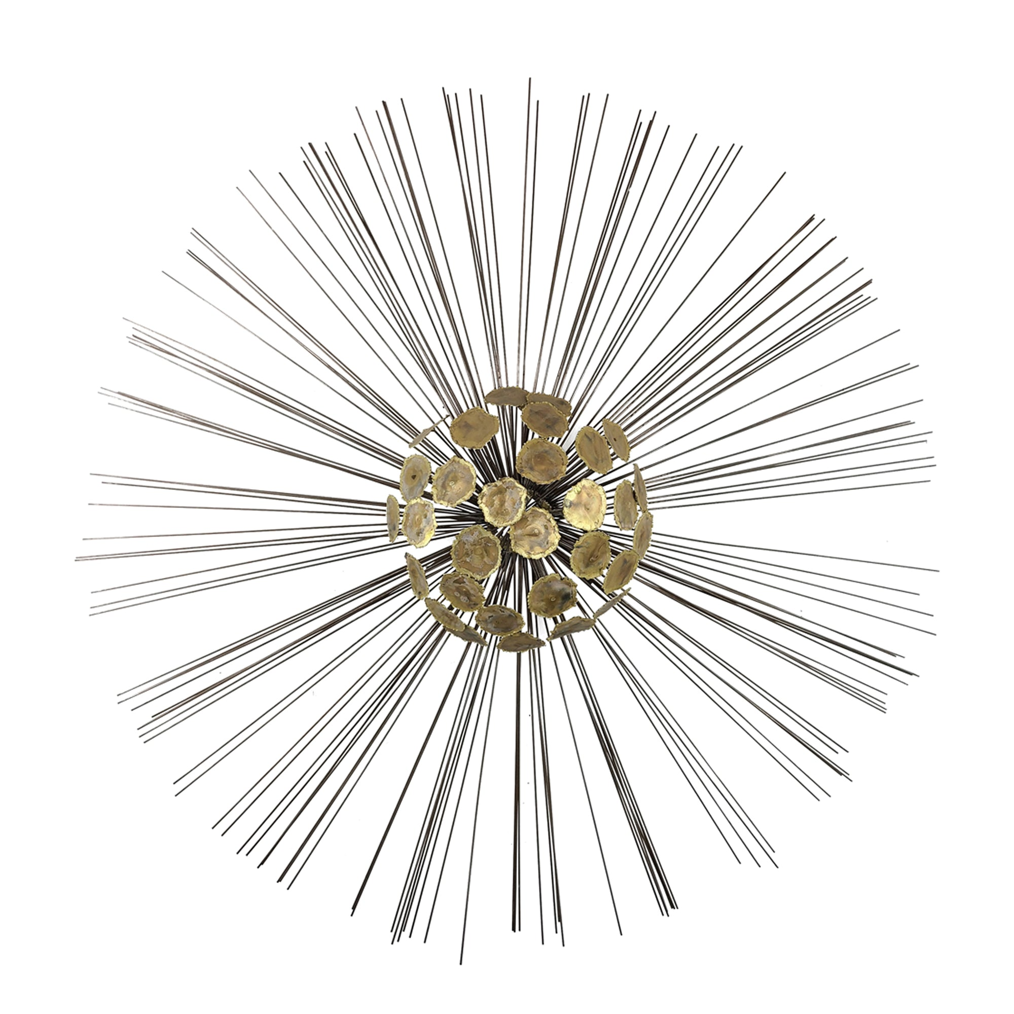 Brass Sunburst Wall Sculpture Curtis Jere