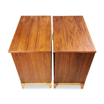 Pair of Walnut Nighstands by KF