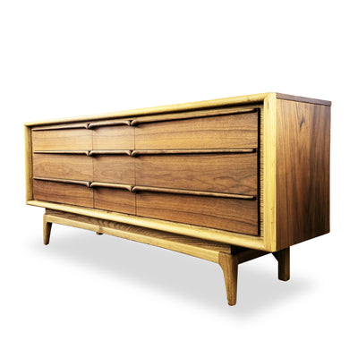Walnut and Ash Dresser by United