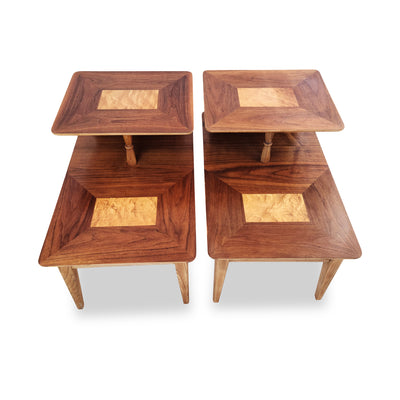 Walnut Side Tables by Lane