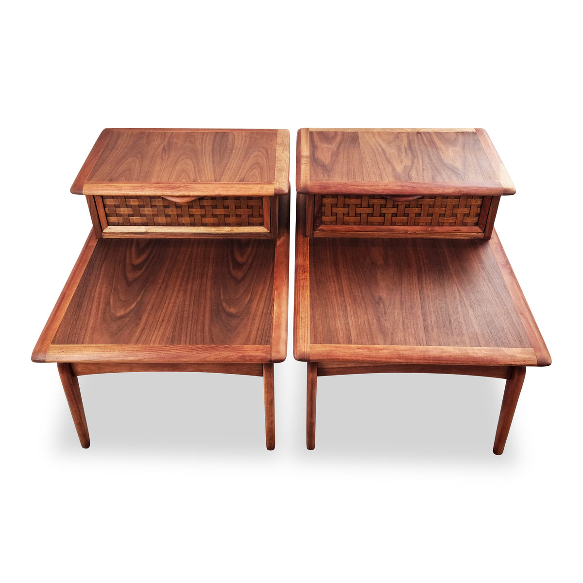 Walnut and Cherry Side Tables by Lane