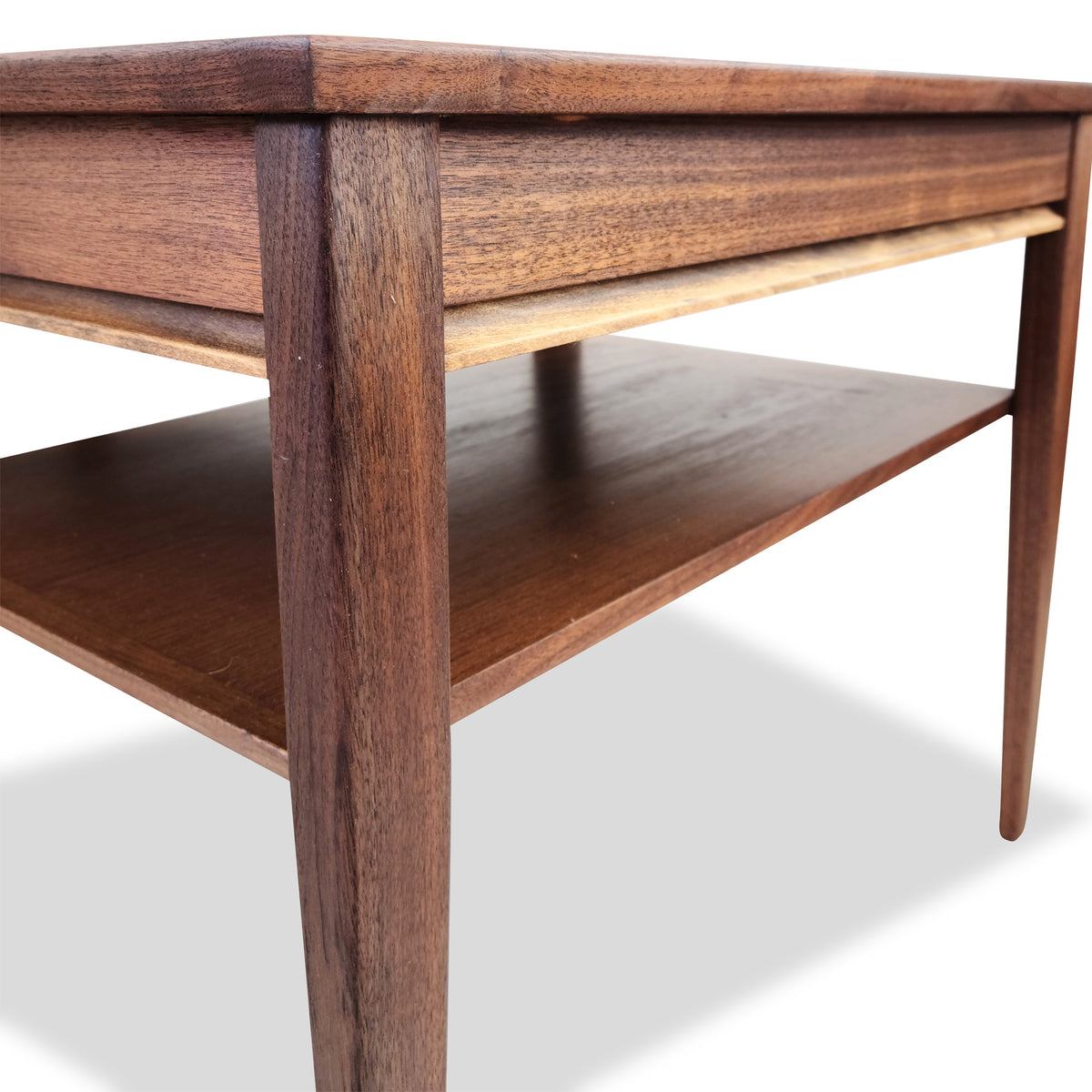 Pair of Walnut End Tables by Honderich