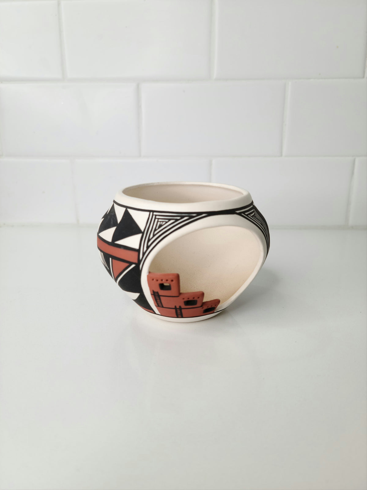 Native American Acoma Pottery Signed