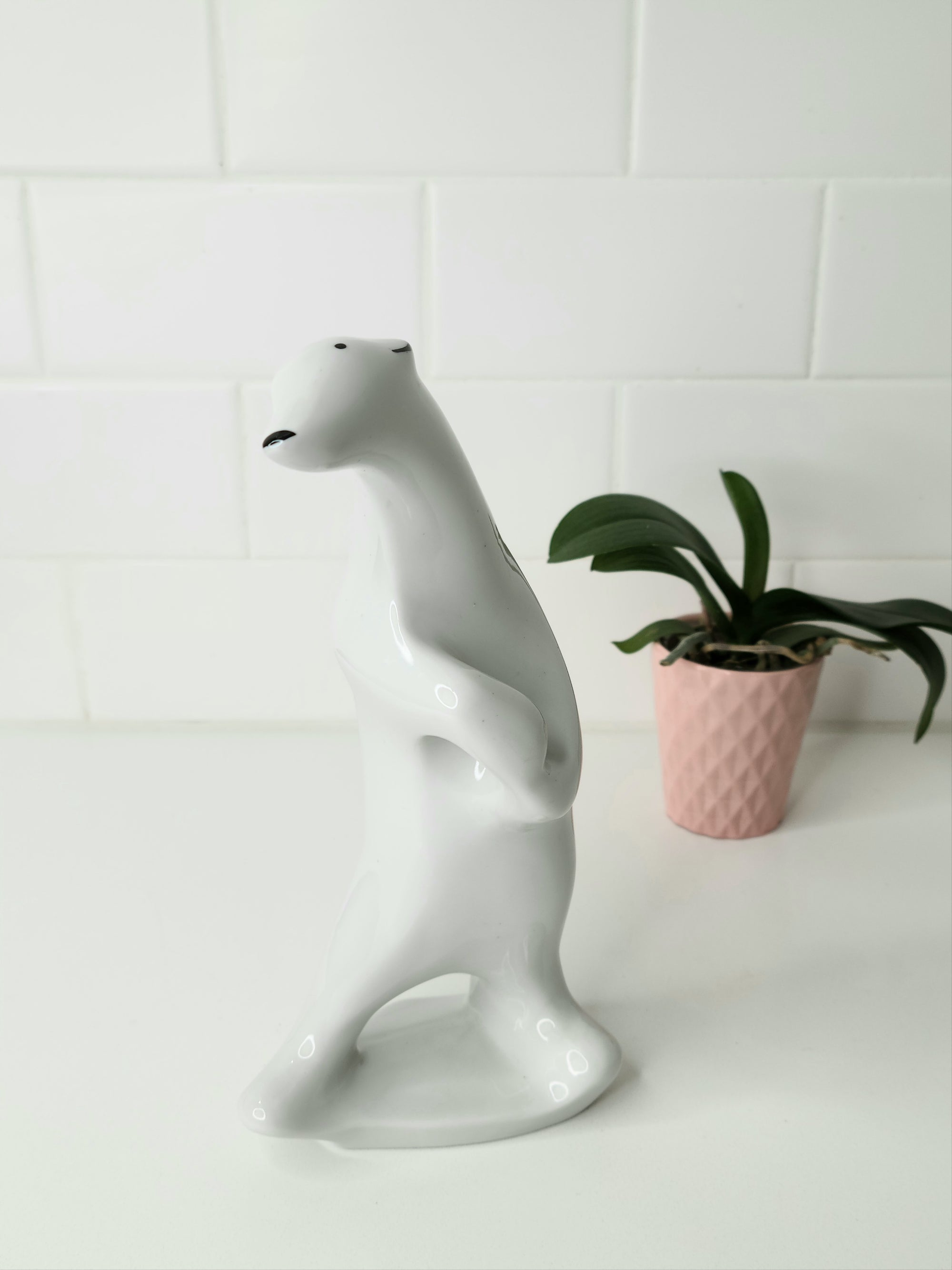 Vintage Porcelain Bear by C. Mielow