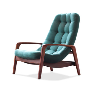 R. Huber Teak Scoop Chair