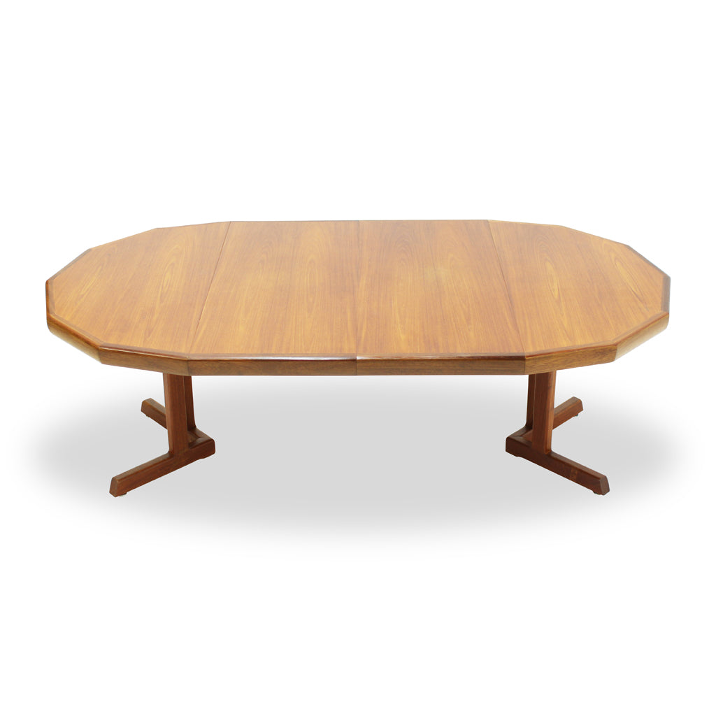 Vintage Teak Pedestal Dining Table