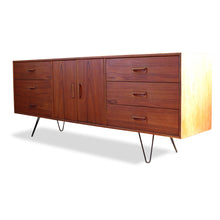 Load image into Gallery viewer, Teak Sideboard with Hairpin Legs