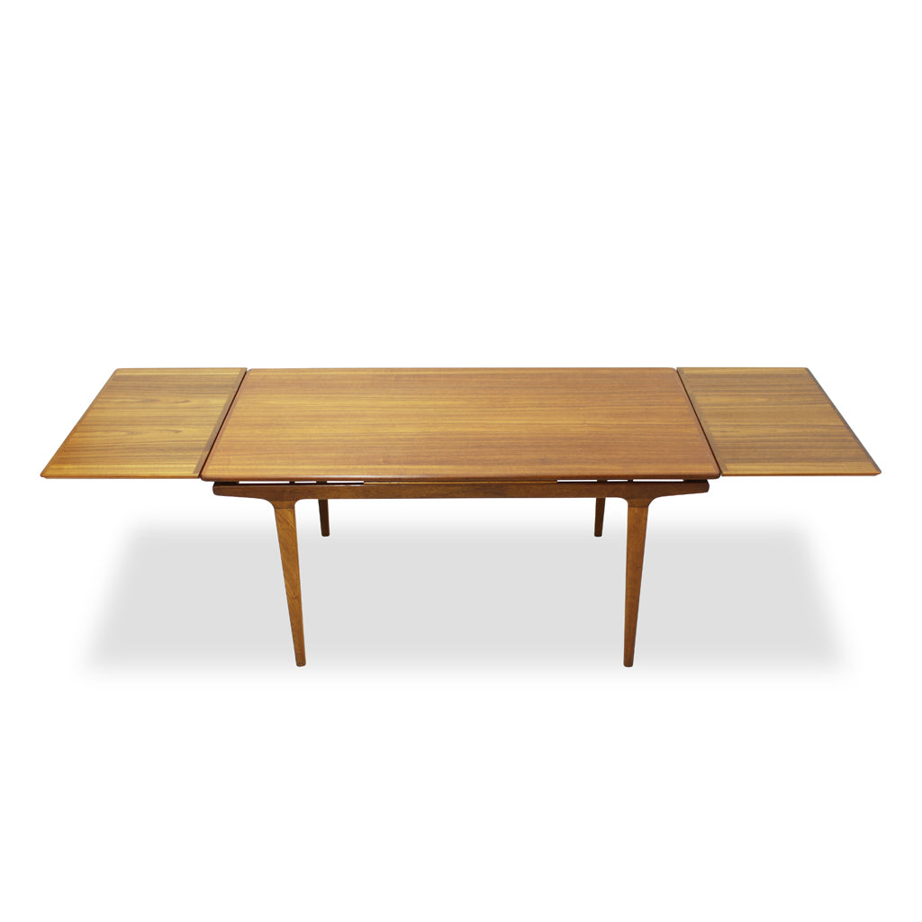 Teak Extendable Dining Table by Johannes Andersen