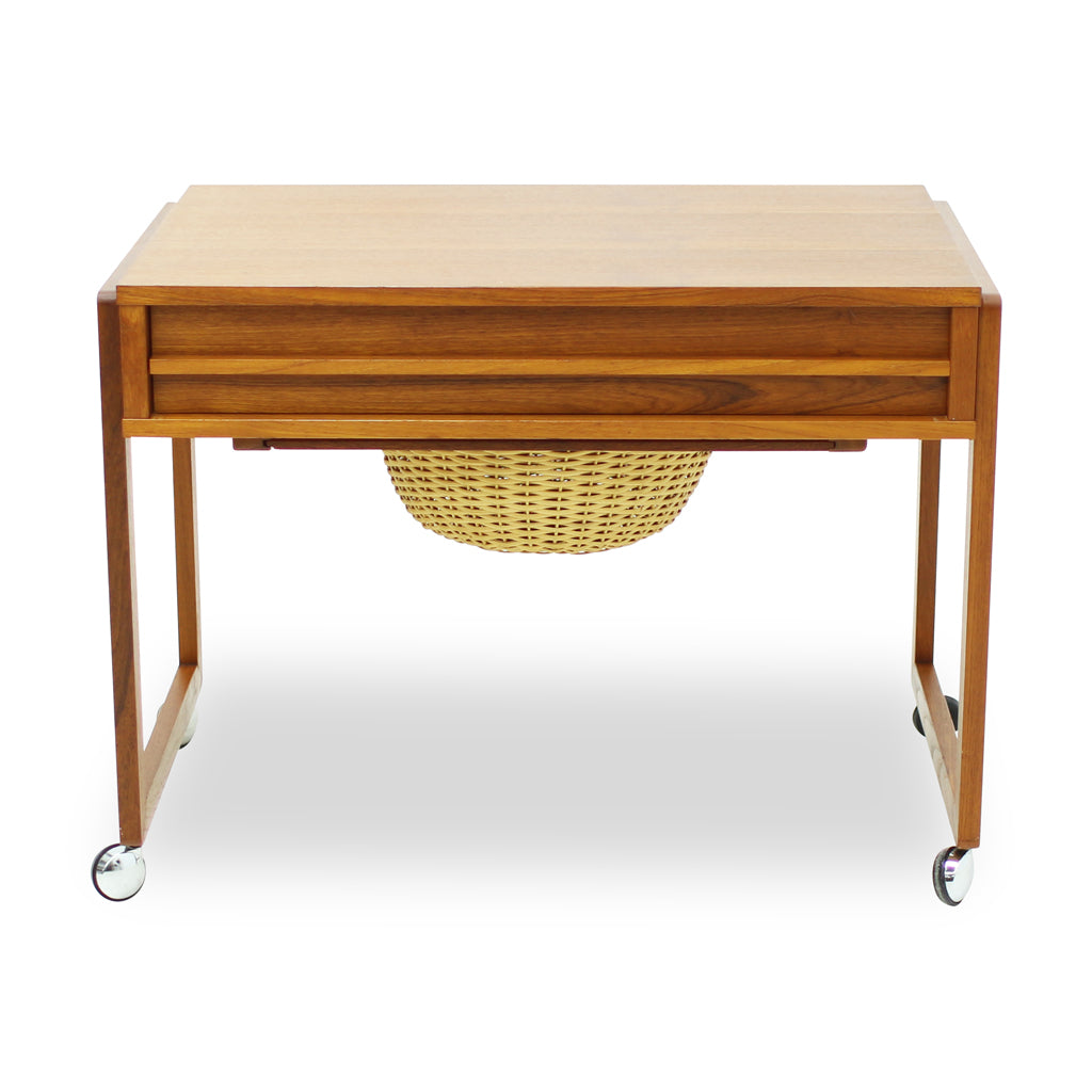 Mid Century Teak Side Table or Sewing Table