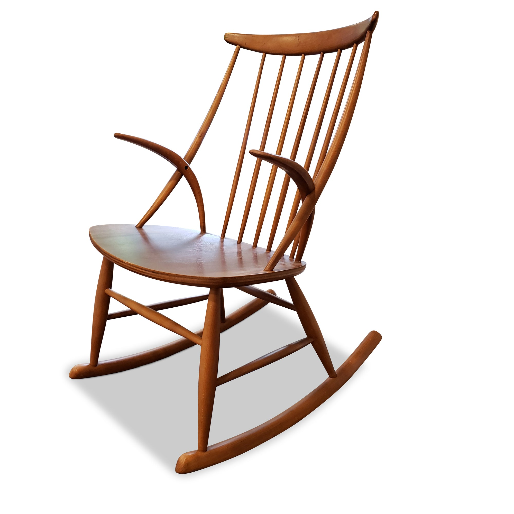 Mid Century Rocking Chair by Illum Wikkelso
