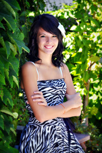 Smiling Girl with Zebra Party Dress - Tracy McCrackin Photography