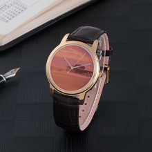 Load image into Gallery viewer, Beach Time - Waterproof Quartz with Leather Band Watch - Tracy McCrackin Photography