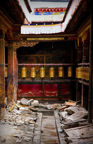 Tibetan Monastery Prayer Wheel - Tracy McCrackin Photography