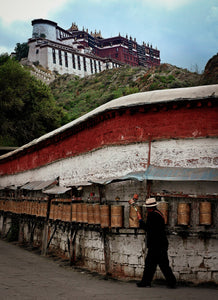 Walkway to the Mountain Monastery of Tibet - Tracy McCrackin Photography
