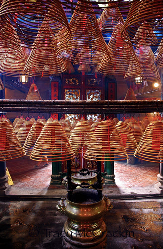 Incense Wheels in Chinese Monastery - Tracy McCrackin Photography