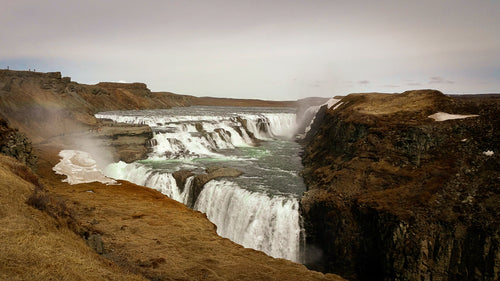 Mist Rises above Gulfoss Waterfall - Tracy McCrackin Photography