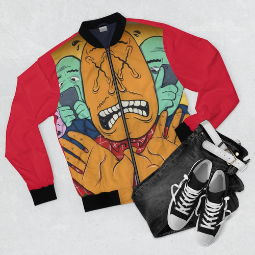 California Street Graffiti Bomber Jacket (Red) - Tracy McCrackin Photography