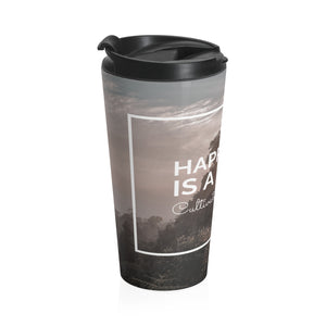 Happiness Stainless Steel Travel Mug - Tracy McCrackin Photography