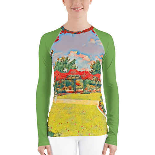 Beautiful Gardens Women's Rash Guard - Tracy McCrackin Photography