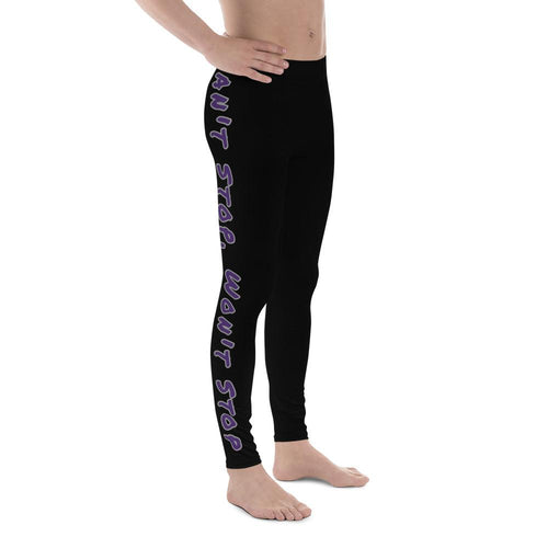 Can't Stop Men's Workout Leggings (Black) - Tracy McCrackin Photography