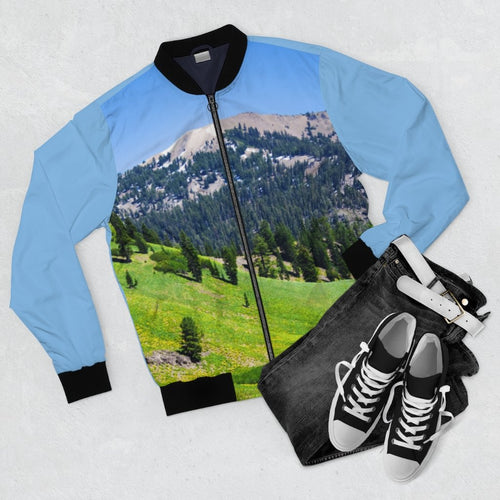 Mt Shasta Mountain Ridge Bomber Jacket - Tracy McCrackin Photography
