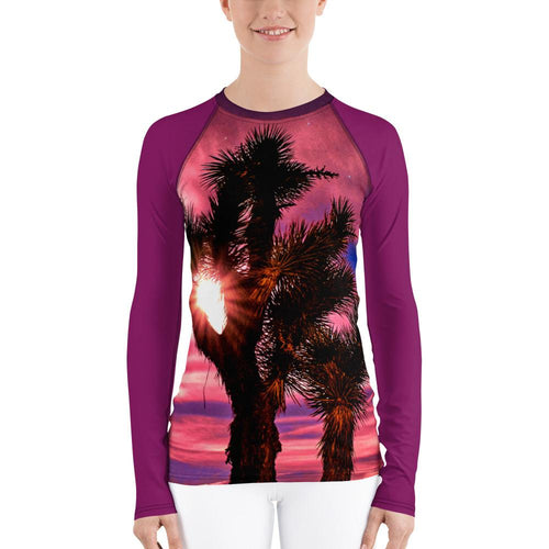 Joshua Tree Women's Rash Guard (Pink) - Tracy McCrackin Photography