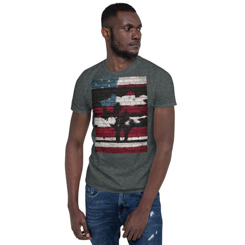 Patriotic Joshua Tree Short-Sleeve Unisex T-Shirt - Tracy McCrackin Photography