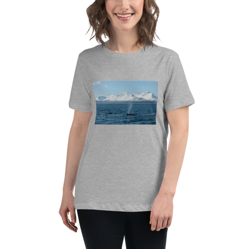 Whales in the Arctic Women's Relaxed T-Shirt - Tracy McCrackin Photography