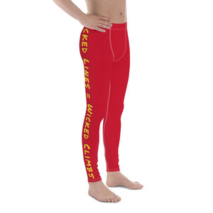 Wicked Lines Men's Leggings (Red) - Tracy McCrackin Photography