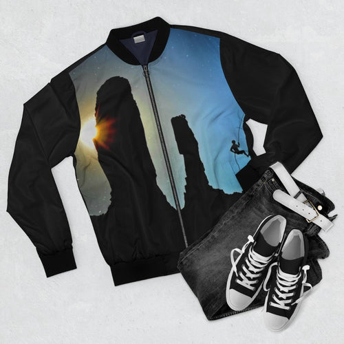 Celestial Sky Rock Climbing Bomber Jacket - Tracy McCrackin Photography