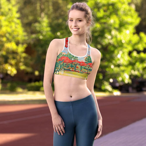 Garden Path Padded Sports Bra - Tracy McCrackin Photography