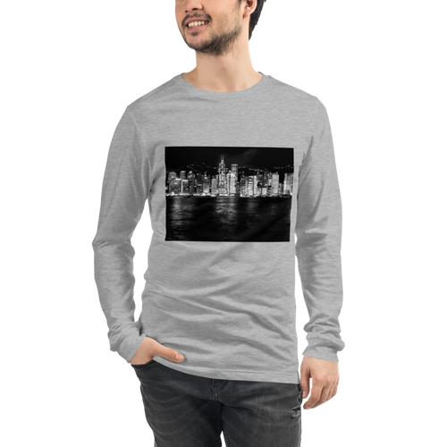 Hong Kong City Skyline Long Sleeve Tee - Tracy McCrackin Photography
