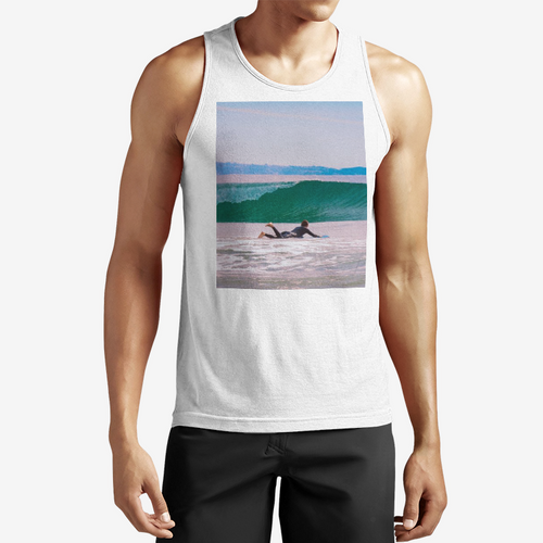 Ride the Wave Men's Performance Tank Top Shirt - Tracy McCrackin Photography