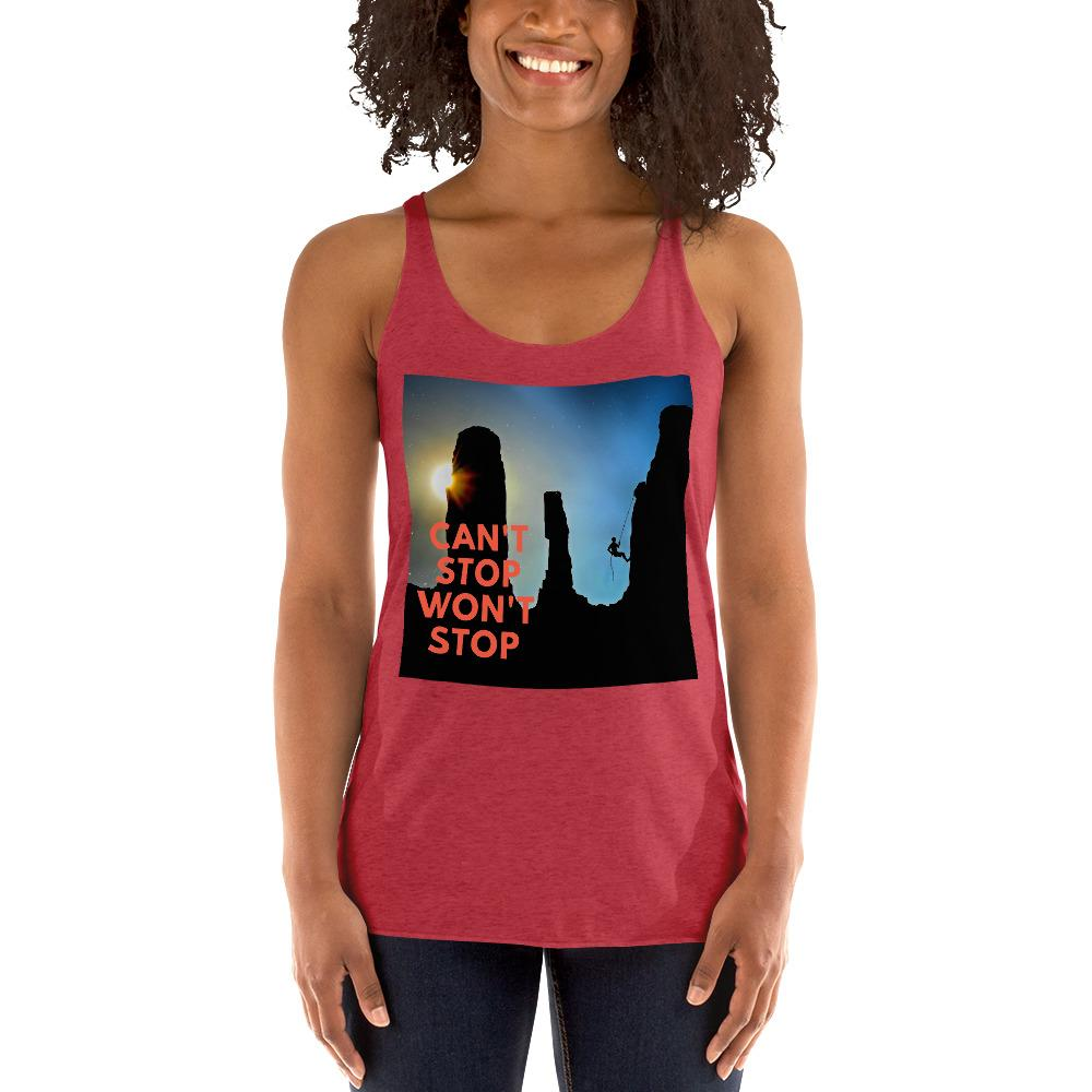 Can't Stop Wont Stop Women's Racerback Tank - Tracy McCrackin Photography