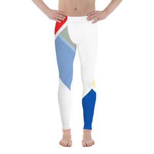 Vibrant Men's Leggings (Red/White/Blue) - Tracy McCrackin Photography