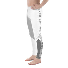 Load image into Gallery viewer, Wicked Climbs Men's Leggings (White/Grey) - Tracy McCrackin Photography